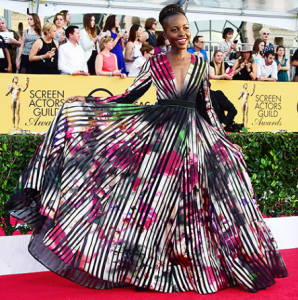 Lupita Nyong'o at the 21st Annual Screen Actors Guild Awards