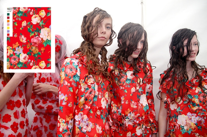 Behind the scenes at Simone Rocha S/S15. (Photography by Stephanie Jt)