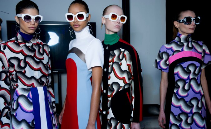Backstage at Jonathon Saunders A/W 15 (Photo credit: Jason Lloyd-Evans)