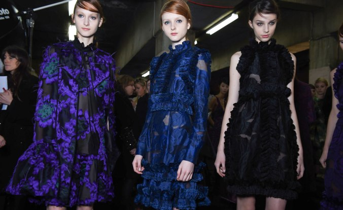 Blues Backstage at Erdem A/W 15 (Photo credit: )