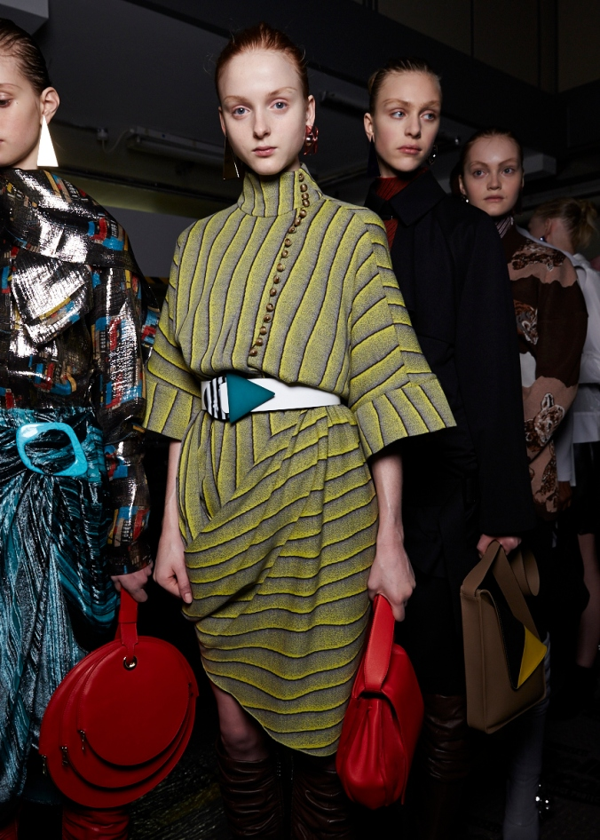 Stripes backstage at JW Anderson A/W 15 (Photo credit: stylabl.com)