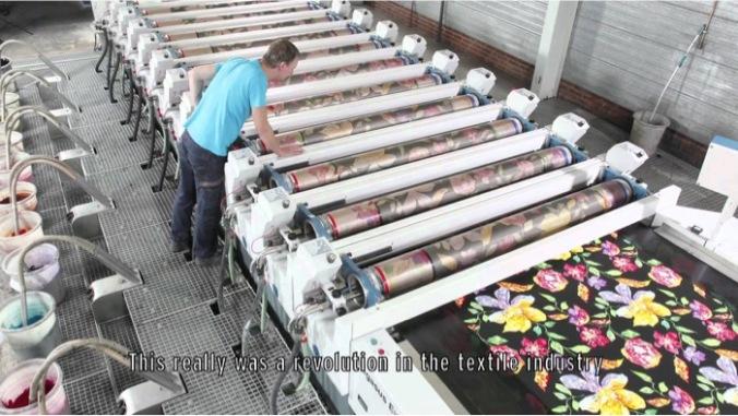 Stork Pegasus rotary screen printing machine