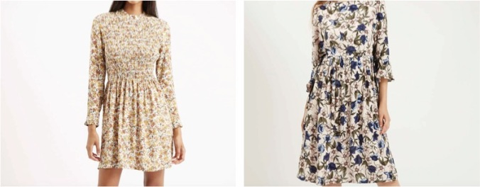 Buy these beautiful dresses here (left) and here (right) on the Topshop UK website. (Photos: Topshop)