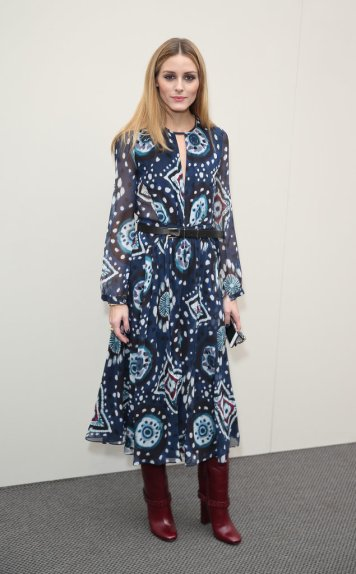 olivia palermo at burberry show