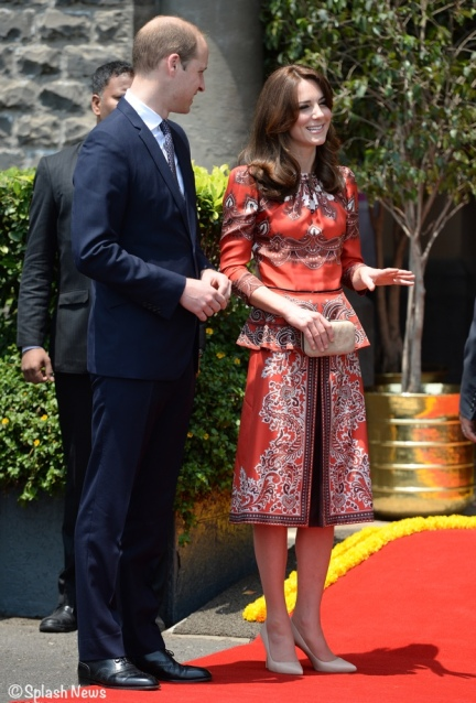 The Duke and Duchess of Cambridge arrive at The Taj Palace Hotel