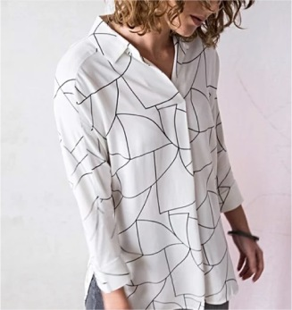 Zaha Collection - Flow, Print Shirt, Oliverbonas.com