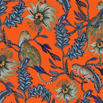 Monkey Bean Flame Fabric
