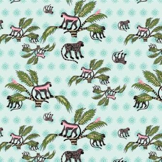 Monkey Palm Oasis Fabric