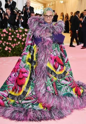 Hamish Bowles wearing Maison Margiela Artisanal designed by John Galliano.