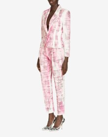 BRUSHSTROKE TWEED COTTON CANVAS AND LINEN JACKET