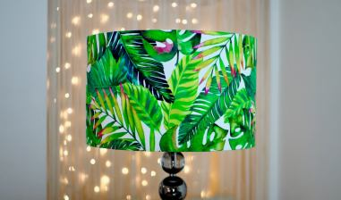 tropical leaves lampshade kitchrepublic