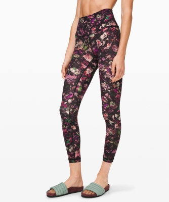 floral illusion leggings lulu lemon