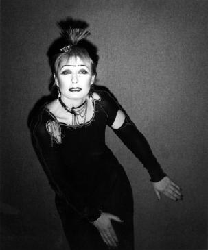 Zandra Rhodes, 1977. Photograph by John Swannell