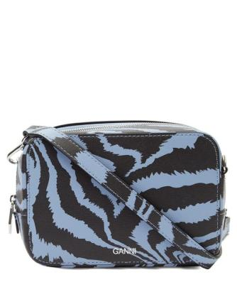 ganni zebra cross bady bag